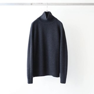 bunt - GRANDFATHER HI NECK SWEATER (Charcoal)