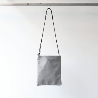 20/80 - CANVAS #6 TWO BAGS WITH LEATHER STRAP (GR/BK)
