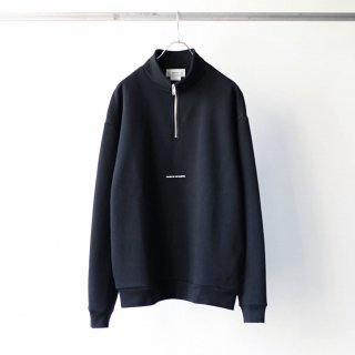 BREATHE. (ever so soft) - INSTRUCTION HALF ZIP SWEAT 'LISTEN TO THE SILENCE' (BLACK)