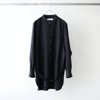 prasthana - strings band collar shirt ver2 (black)