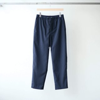 THEE - tapered easy pants (navy stripe)