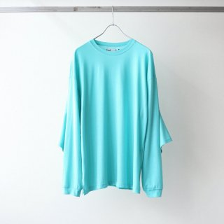 foof - double sleeves long tee (turquoise)