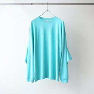 foof - double sleeves long tee (turquoise)