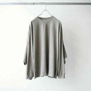 foof - double sleeves long tee (grey beige)