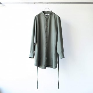 prasthana - strings band collar shirt ver2 (khaki)