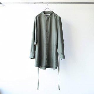 prasthana - strings band collar shirt ver2 (khaki)