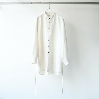 prasthana - strings band collar shirt ver2 (white)