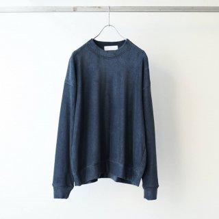 bunt - PILE CREW NECK SHIRTS (NAVY)
