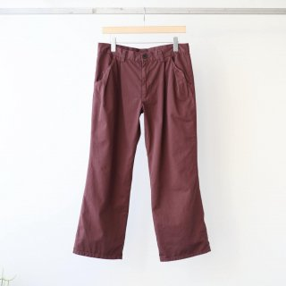 foof - ankle length flare pants (burgundy)