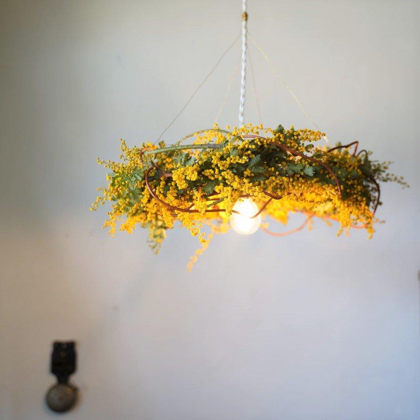 ミモザのランプシェード