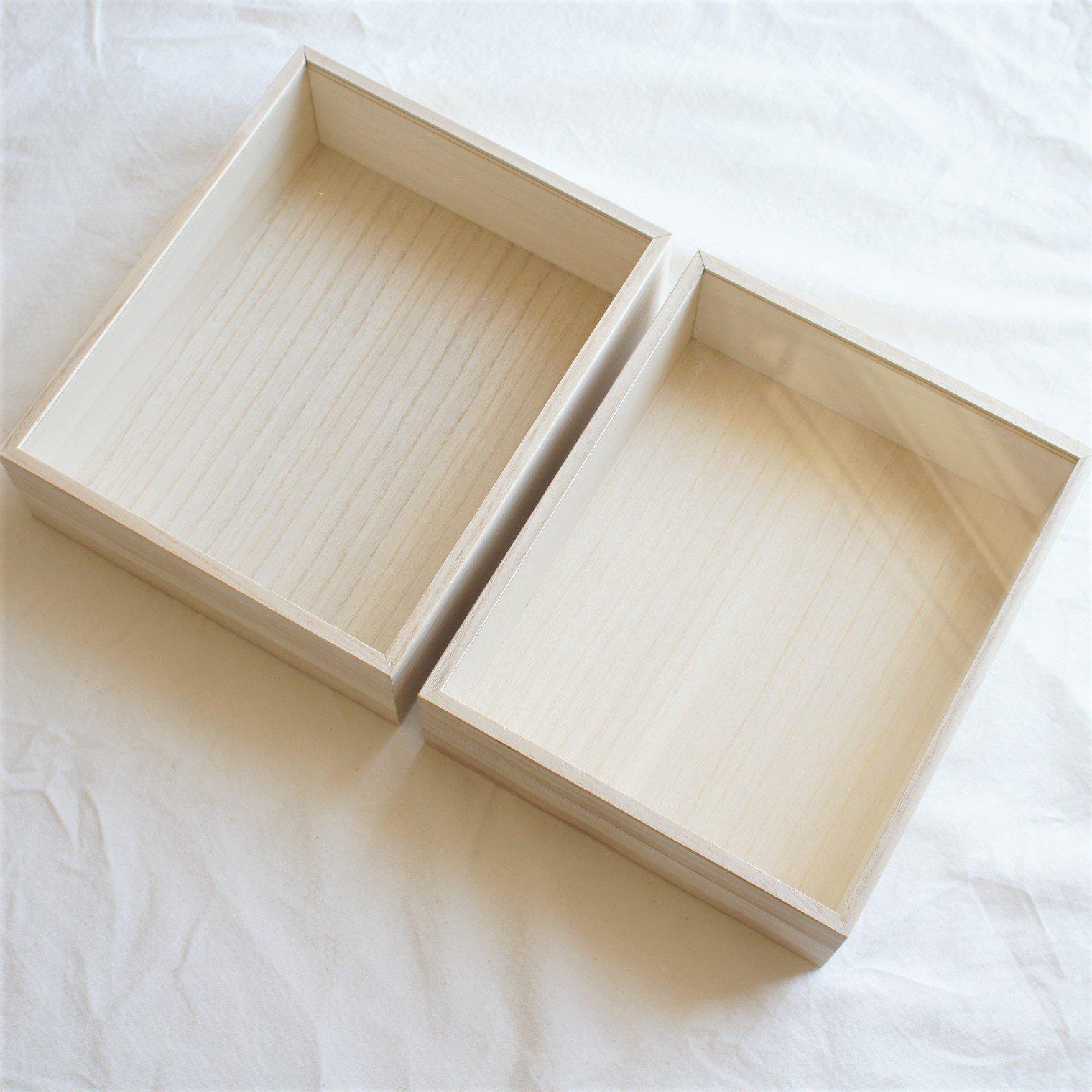 【両親贈呈品用】A4キャンバス専用木製BOX 2個