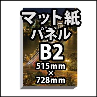 B2パネルポスター印刷(マット紙パネル)