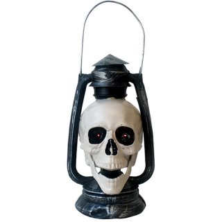 トーキング スカルランタン Halloween Talking Skull Lantern Display