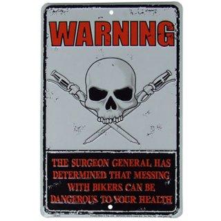 スカルライセンスプレート WARNING