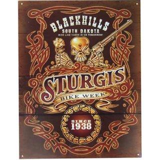 スカル ノスタルジックメタルサイン Sturgis Black Hills