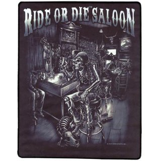 スカルアイロンワッペンL Sublimation Ride or Die Saloon Patch