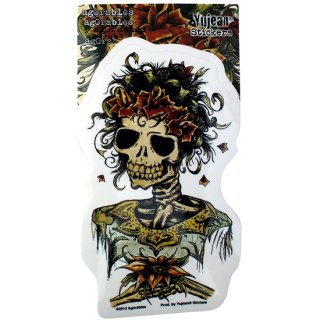 Yujean デッドスカル ブライド(花嫁)デカールステッカー Agorables Muertos Day of the Dead Bride Skull