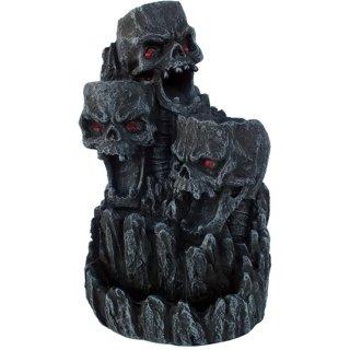 ゴシックスカル(逆流香コーン)マウンテンタワー 香炉オブジェ Gothic Skull Backflow Incense Tower
