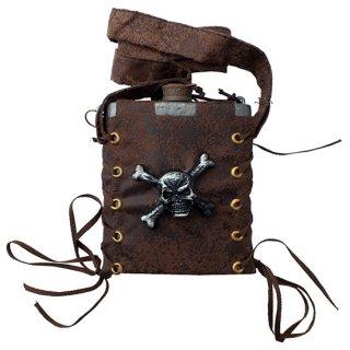 海賊フラスコボトル アンティークシルバー Pirate Flask Sv