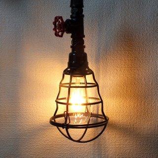 アイアンバルブペンダントランプ Rebar Iron valve pendant lamp