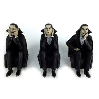 ヴァンパイアシェルフシッター Vampires Speak, See, Hear No Evil Shelf Sitters