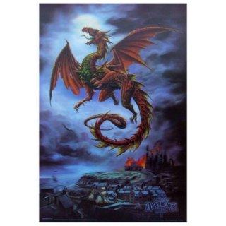 【同梱不可】アルケミーゴシック ドラゴン3Dポスター The Whitby Wyrm dragons