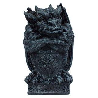 【同梱不可】ラージガーゴイルウィズシールド像 Large Gargoyle With Shield