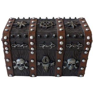パイレーツスカル チェスト(海賊宝箱) Wooden Pirate Skull Treasure Chest