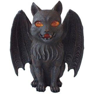 キャットガーゴイル キャンドルホルダーフィギュア Cat Gargoyle Candle Holder Figurine
