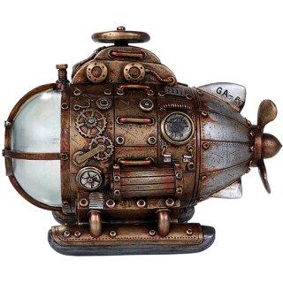 スチームパンク サブマリン(潜水艦) LEDナイトライト オブジェ Steampunk Submarine LED Statue