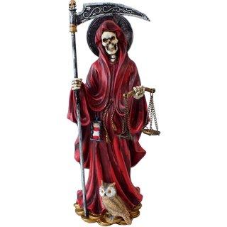 グリムリーパー(死神)サンタムエルテ レッドフィギュア Red Santa Muerte Statue Grim Reaper
