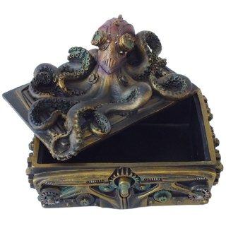 スチームパンク オクトパス(タコ)スクエアボックス Steampunk Octopus Square Trinket Box