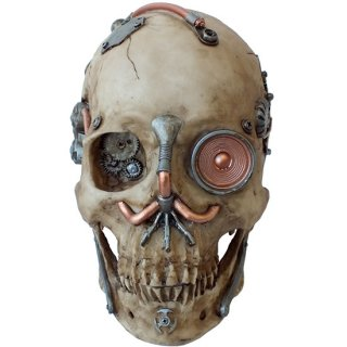 スチームパンクスカルヘッド Steampunk Machine Skull Cooper Eye RX920