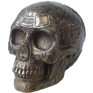 マヤ文明 アステカ(暦石)カレンダー ブロンズ アステカスカル Bronze Aztec Skull