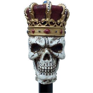 【同梱不可】クラウン スカルキング ウォーキングステッキ Crown Skull King Walking Cane