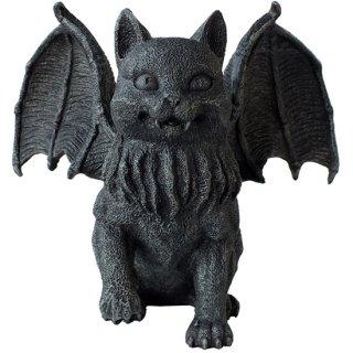 ウイングキャットガーゴイル キャンドルホルダー フィギュア Winged Cat Gargoyle Candle Holder Statue