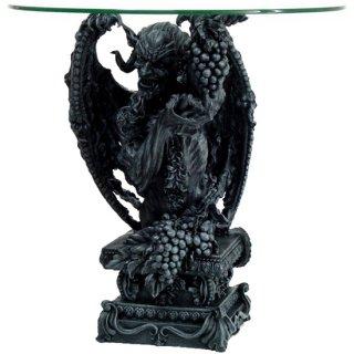 【同梱不可】ギリシャ神話 牧羊神パン像 バッカス ラウンドテーブル Pan Bacchus RoundTable Demon Evil Devil Sculptural