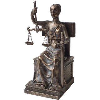 正義の女神 ジャスティスブロンズスタチュー(像) Bronze Beautiful Seated Justice Statue