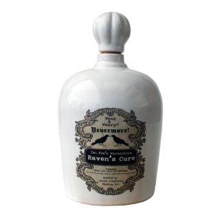 ゴシックレイヴン ネバーモア ポイズンセラミックボトル(毒瓶) Gothic Raven's Cure Nevermore Poison Bottle White