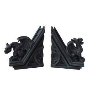 ゴシックガーゴイル スカルプチュラルブックエンドセット Gothic Gargoyle Sculptural Bookend set 8293