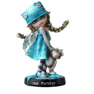 可愛い妖精の置物 ブルーマンデードリーフェイ フェアリーフィギュア Dolly Fae Collection Blue Monday Dolly Fae Fairy Figurine