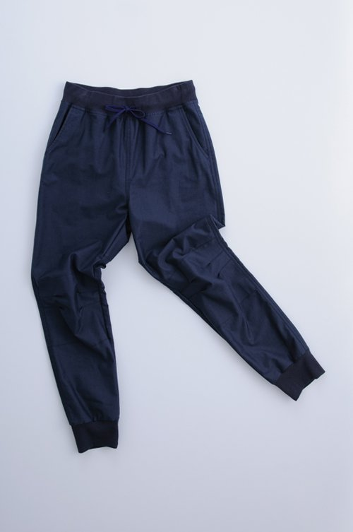cotton pants plus rib / navy