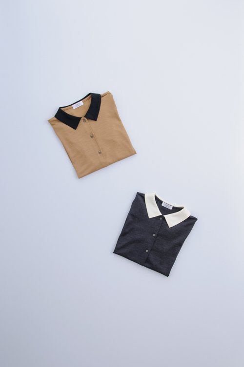 wool collar c&s cardigan