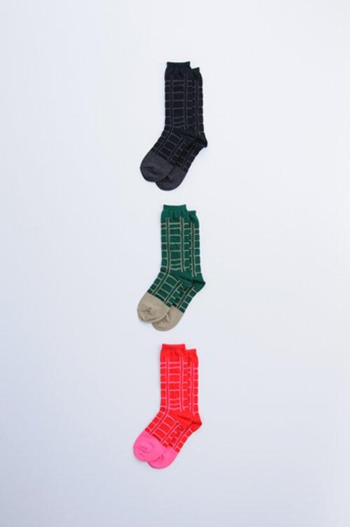 cotton 〜ladder〜 middle socks