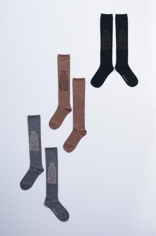 wool 〜KURUMI DE MILK〜 high socks