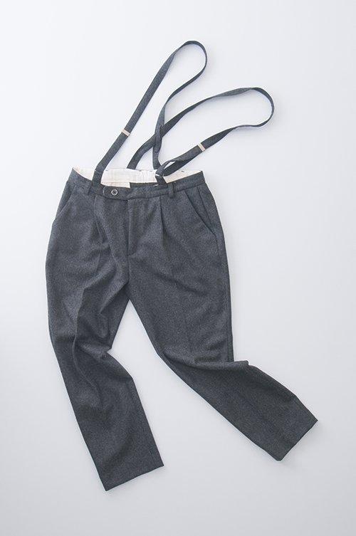 wool suspender pants