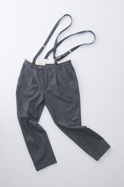 wool suspender pants