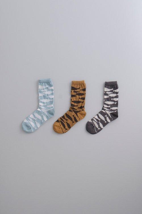 cotton linen ~sakana~ middle socks