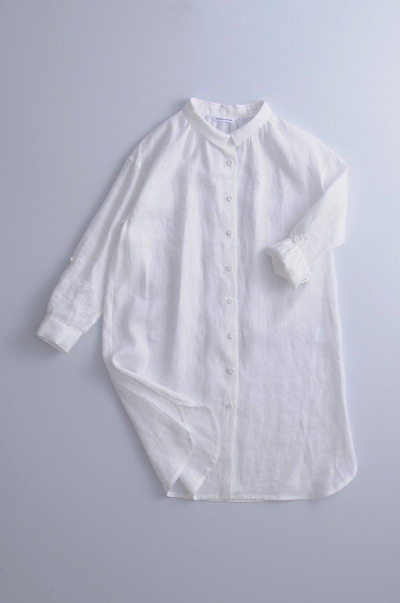 long linen shirts /off white