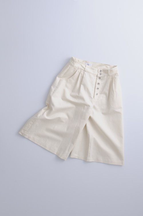 cotton ramie gaucho pants / kinari